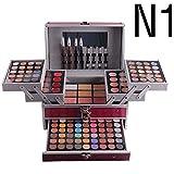 HJSMZ Paleta Sombra de Ojos Cosmética Maquillaje Kit Set Profesional Sombra de Ojos del Reflejo Mate Disponible Belleza Ojo Shadow,Rojo