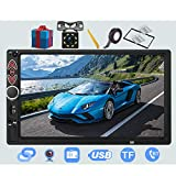Double Din Car Stereo-7 inch Car Stereo Upgrade Touch Screen,Compatible with BT TF USB...