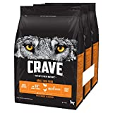 Crave Dry Dog Food with Turkey & Chicken – High Protein & Grain-Free – 2.8 kg (Pack of 3)