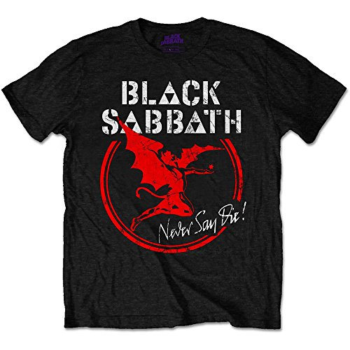 Rockoff Trade Black Sabbath Archangel Never Say Die Camiseta, Negro, S para...