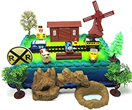Thomas the Train Birthday Cake Topper Set Featuring Thomas and Friends with Decorative Themed Accessories