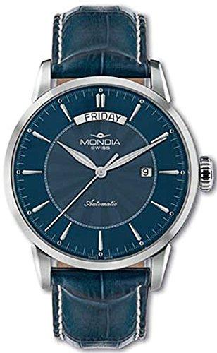 Mondia swiss classic orologio Uomo Analogico Automatico con cinturino in Pelle di vitello MS 656-2BL-CP