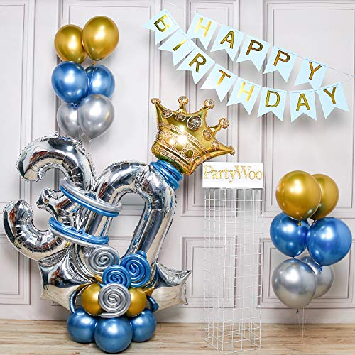 30th Birthday Balloons and Garland Kit by Partywoo with 34 Pieces