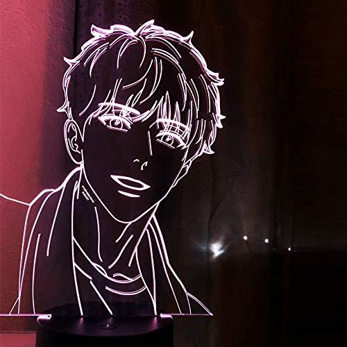 Lámpara acrílica 3d BL Anime Aj Alex Sensor táctil de luz colorida luz nocturna Led Ahn Jiwon lámpara Bj Alex regalo para decoración de habitación
