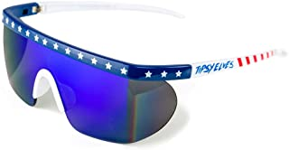 Men's USA Patriotic American Flag Sunglasses - Red, White, and Blue Sunglasses for Guys