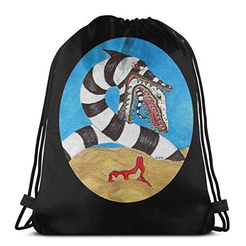XCNGG S Worm Drawstring Bag Sports N Bag Travel Bag Gift Bag