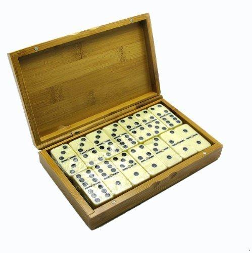 GMMH Domino en Holzbox Caja de regalo juego de fichas de dominó