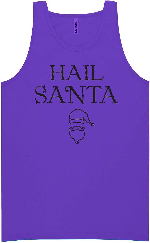 zerogravitee Hail Santa Neon Purple Tank Top - XX-Large