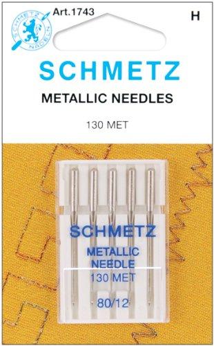Euro-Notions Metallic Machine Needles-Size 12/80 5/Pkg