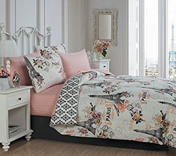 Avondale Manor 8-piece Cherie Comforter Set Queen Coral
