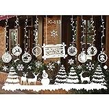 Weihnachten Aufkleber Fenster,Wandfenster Weihnachten Aufkleber Weihnachtsdekoration...