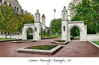 Campus Images IN993 Indiana University, Bloomington Lithographic Print