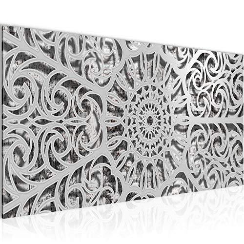 Bilder Mandala Abstrakt Wandbild Vlies - Leinwand Bild XXL Format Wandbilder Wohnzimmer Wohnung Deko Kunstdrucke Braun 1 Teilig - MADE IN GERMANY - Fertig zum Aufhängen 506112c