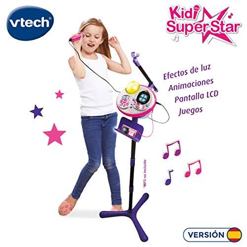 VTech Micrófono Kidi Super Star Karaoke, Multicolor (3480-178522)