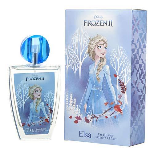 Frozen II Disney Eau de Toilette Natural Spray: Anna & Elsa Parfüm 100ml im schönen Glasflakon mit Krönchen-Verschluss, 1er Pack (100ml)