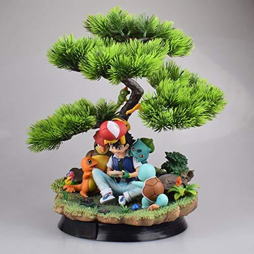 Candle Light Pokémon, Xiaozhi, Little Fire Dragon, Wisdom Combination, Model Boxed Figure