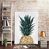 Nordic Golden Pineapple Canvas Malerei Obst HD Print Bilder für Living Home Dekorieren 30x40cmx1 ungerahmt