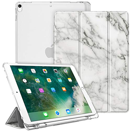 Fintie Funda para iPad Air 10.5' (3.ª Gen) 2019/iPad Pro 10.5' 2017 con Soporte Integrado para Pencil - Trasera Transparente...