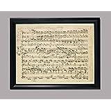 BiblioArt Series クララ・シューマン自筆譜「ピアノ協奏曲ニ短調(K.466)第1楽章のカデンツァ」額装品
