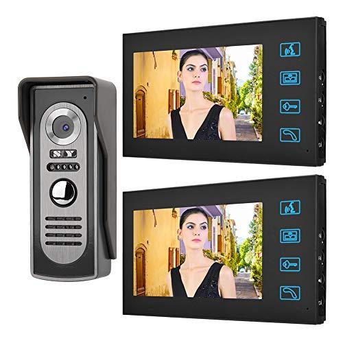7 Inch Night Vision Doorbell LCD Wired Visual Intercom Door Bell Night Vision Home Smart Video Doorbell Kit