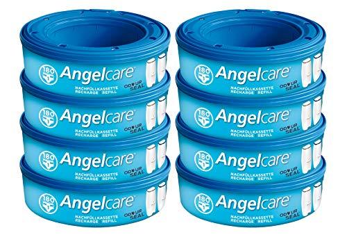 Angelcare 8er-Pack Original Nachfüllkassetten für Angelcare Windeleimer Comfort Plus