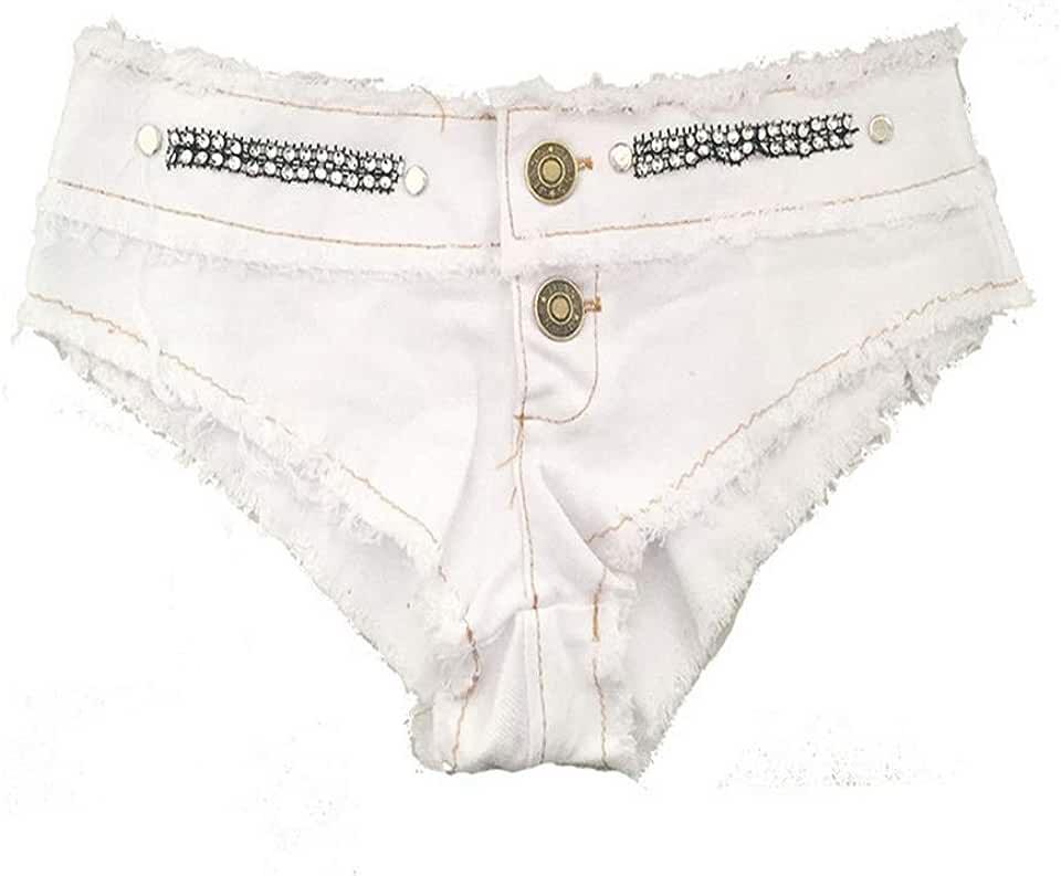 Everyday Bras Women's Summer Denim Shorts Ultra Short Low Waist Shorts