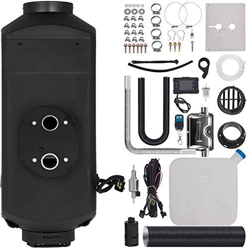 JALAL Calentador Aire diésel 8KW 24V, Calentador estacionamiento con Interruptor LCD, silenciador Control Remoto, Tanque, termostato LCD