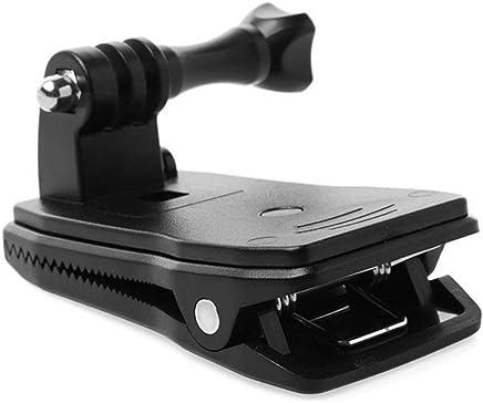 Jasnyfall Noir Aluminium V/élo V/élo Moto Guidon Support Pince Montage Tr/épieds pour Gopro Hero 3 2 1 HD Cam/éra Accessoires Noir Num/érique