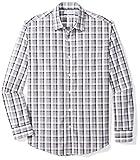 Amazon Essentials Men's Regular-Fit Long-Sleeve Casual Poplin Shirt, grey/black...