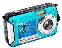 Underwater Camera FHD 2.7K 48 MP Waterproof Digital Camera Selfie Dual Screen Full-Color LCD Displays Waterproof Digital Camera for Snorkeling (806BC) by YISENCE