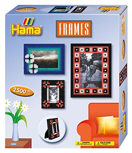 Hama 3234 - Original Bügelperlen - Geschenkpackung Bilderrahmen, ca. 2500 Perlen, 2 Stiftplatten und Zubehör