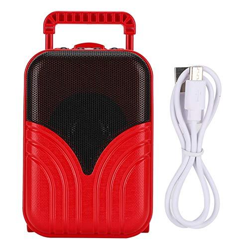 Snufeve6 Altavoz, Estéreo de 360 ° Altavoz portátil Profesional Elegante Forma de Maleta con batería de 1200 mAh para Exteriores para Uso en el hogar para Viajes(Ópera de Pekín Rojo)