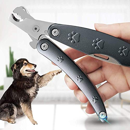 Dog Nail Clippers, Sharpest Dog Toenail Clippers Metal Handle with Safety Guard [Clips The Nails with One Squeeze] for Large Medium Small Breed (>6 Lb) with Exquisite Box, Best Clippers for Thick Nail