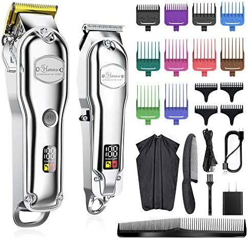 Hatteker Hair Clipper for Men IPX7 Waterproof Cordless Barber Clipper for Hair Cutting Kit with product image