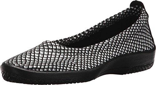 Arcopedico L15 Black/White Lytech Ballet Flat 6.5 M US