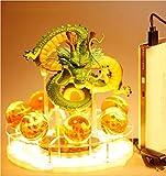 Qiong Yao TIAN Luz Nocturna Dragon Ball Z Son Goku Spirit Bomb Lámpara de mesa Luminaria LED Luces nocturnas Habitación Lámparas de mesa Decoración del hogar Diy Crystal Ball
