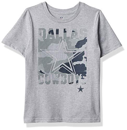 Dallas Cowboys NFL Boys Element Kids Short Sleeve T-Shirt, Heather Gray, 7 Years