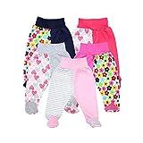TupTam Baby Unisex Hose mit Fuß Bunte 5er Pack, Farbe: Mädchen, Größe: 56