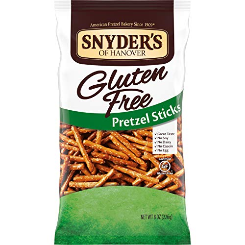 Snyder's of Hanover Gluten Free Pretzel Sticks, 8 Ounce (Pack of 12)