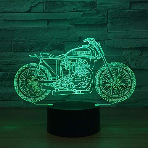 Nachtlampje illusie LED Night Light USB Powered 7 kleuren knipperlicht decoratie motorfiets verlichting