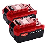 Upgraded 2 Pack 6000mAh 20V MAX Lithium Replacement for Porter Cable 20v Lithium Battery PCC685L PCC680L 20 Volts Batteries.