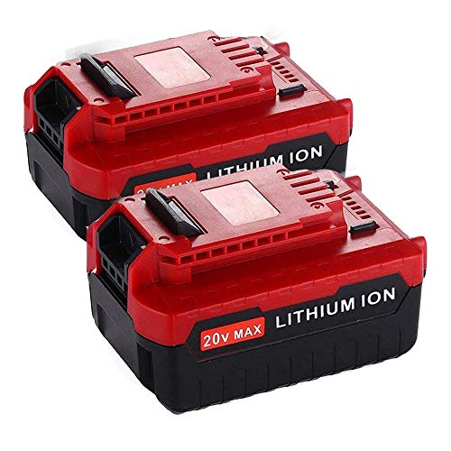 Upgraded 2 Pack 6000mAh 20V MAX Lithium Replacement Battery for Porter Cable 20v Lithium Battery PCC685L PCC680L 20 Volts Batteries.