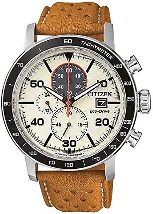 Orologio citizen cronografo quarzo uomo con cinturino in pelle ca0641-16x