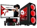 Megamania PC Gaming AMD Ryzen 7 2700, Ordenador de sobremesa 4.1GHz Turbo Octa Core   16GB DDR4   SSD 480GB   Gráfica Nvidia GTX 1050Ti 4GB + Monitor LED FullHD 24' Curvo Gaming 75hz 1ms