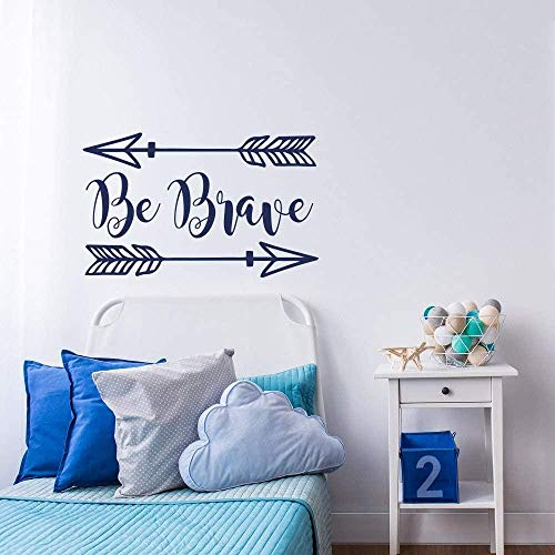 Two Arrows Removable Wall Stickers Quote Be Brave Decal Home Self Boys Room Dedicated Modern Vinyl Woodland Wall Stickers 57X95Cm
