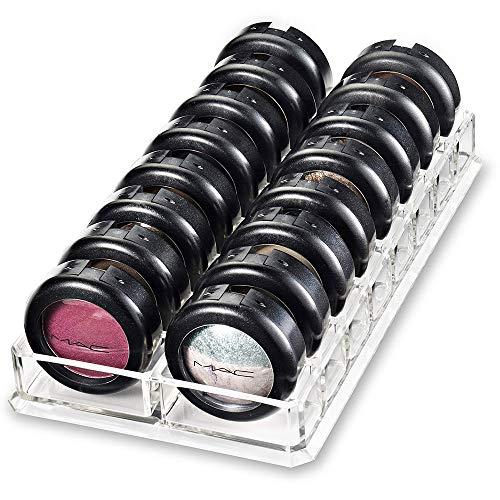 Organisateur Maquillage,Boîte de Rangement Cosmétique en Acrylique,Boîte de Rangement pour Bac à Ombre à Paupières, Boîte de Rangement à Coussin d'air Blush - avec 16 Grilles