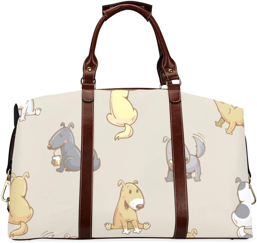 Girl Duffel Gifts Bag Cartoon Funny Dogs Columbus Mall Classic Oversize Cute Puppies