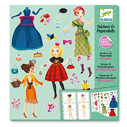 Djeco - Paper Dolls und Sticker Massive Fashion Papierpuppen