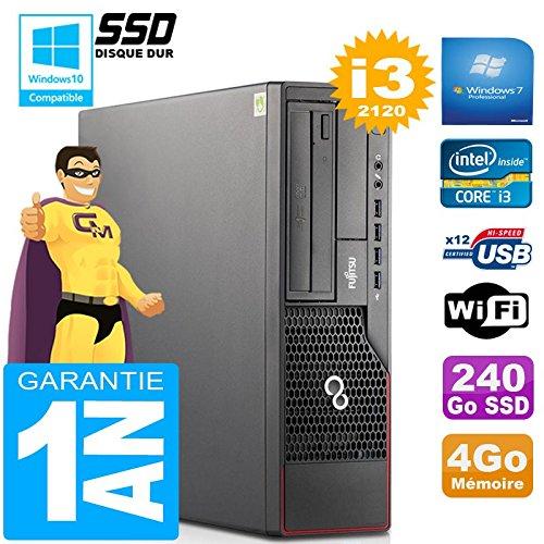 Fujitsu PC Esprimo E700 E90+ SFF Core I3-2120 RAM 4gb Scheibe 240 GB SSD WiFi W7 (Generalüberholt)
