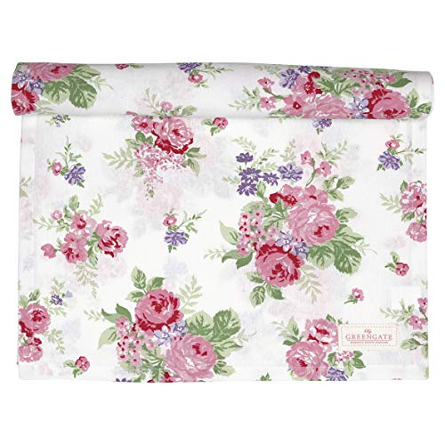 GreenGate Table Runner Rose White